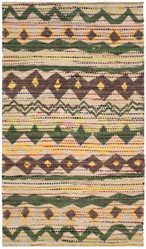 Safavieh Cedar Brook Cdr322b Green - Multi Area Rug
