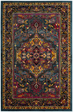 Safavieh Cherokee Chr915a Light Blue - Fuchsia Area Rug