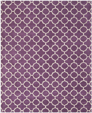 Safavieh Chatham Cht717f Purple / Ivory Area Rug
