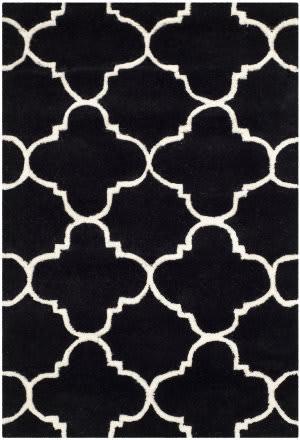 Safavieh Chatham Cht717k Black / Ivory Area Rug