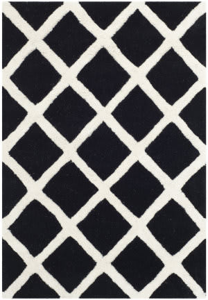 Safavieh Chatham Cht718k Black / Ivory Area Rug