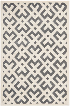 Safavieh Chatham Cht719d Dark Grey / Ivory Area Rug