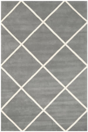 Safavieh Chatham Cht720d Dark Grey / Ivory Area Rug
