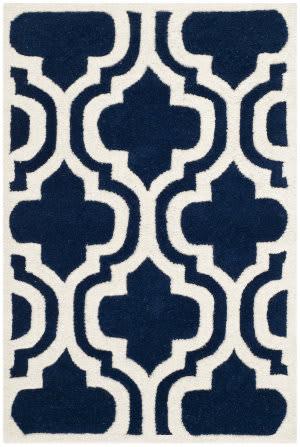Safavieh Chatham Cht727c Dark Blue / Ivory Area Rug