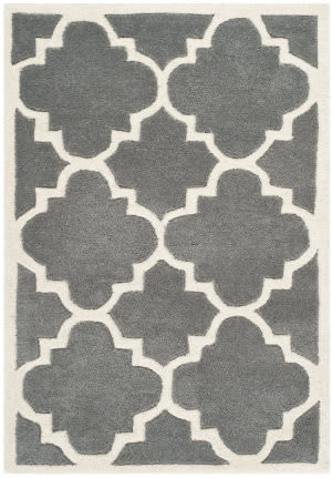 Safavieh Chatham Cht730d Dark Grey / Ivory Area Rug