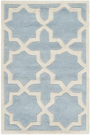 Safavieh Chatham Cht732b Blue / Ivory Area Rug