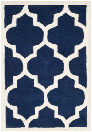 Safavieh Chatham Cht733c Dark Blue / Ivory Area Rug