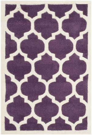 Safavieh Chatham Cht733f Purple / Ivory Area Rug