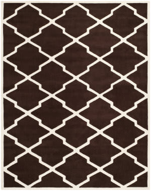 Safavieh Chatham CHT735R Dark Brown / Ivory Area Rug
