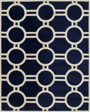 Safavieh Chatham CHT739C Dark Blue / Ivory Area Rug