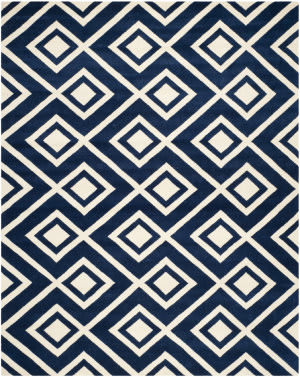 Safavieh Chatham CHT742C Dark Blue / Ivory Area Rug