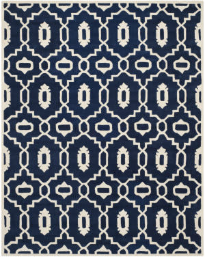 Safavieh Chatham Cht745c Dark Blue / Ivory Area Rug