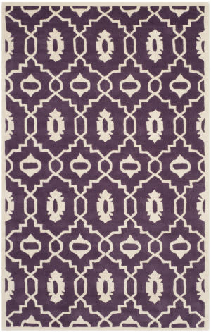 Safavieh Chatham Cht745f Purple / Ivory Area Rug