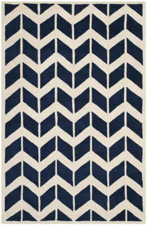 Safavieh Chatham Cht746c Dark Blue / Ivory Area Rug