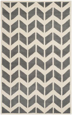 Safavieh Chatham Cht746d Dark Grey / Ivory Area Rug