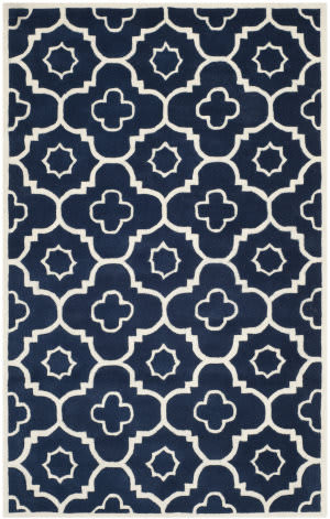 Safavieh Chatham Cht750c Dark Blue / Ivory Area Rug