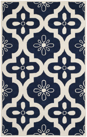 Safavieh Chatham Cht751c Dark Blue / Ivory Area Rug