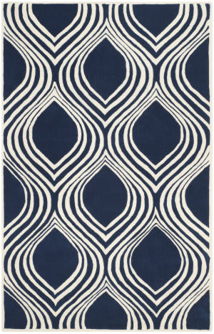 Safavieh Chatham Cht758c Dark Blue - Ivory Area Rug