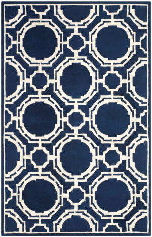 Safavieh Chatham Cht767c Dark Blue - Ivory Area Rug