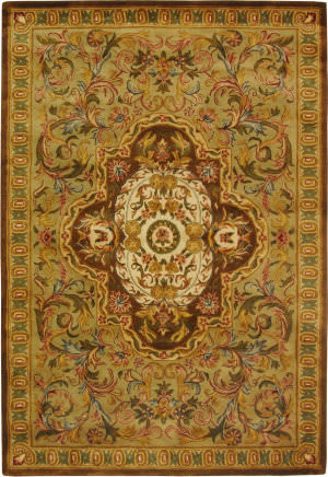 Safavieh Classic CL220A Beige / Olive Area Rug