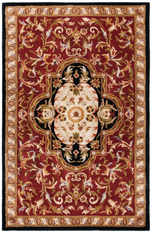 Safavieh Classic CL220C Red - Black Area Rug