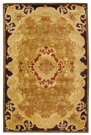Safavieh Classic CL234B Gold / Cola Area Rug