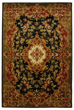 Safavieh Classic CL234D Black / Green Area Rug