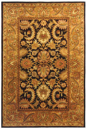 Safavieh Classic CL244B Dark Plum / Gold Area Rug