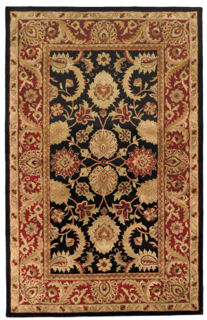 Safavieh Classic CL244C Black - Burgundy Area Rug