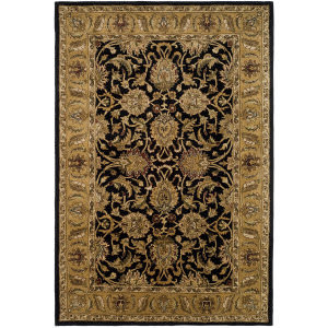 Safavieh Classic CL252A Black / Gold Area Rug