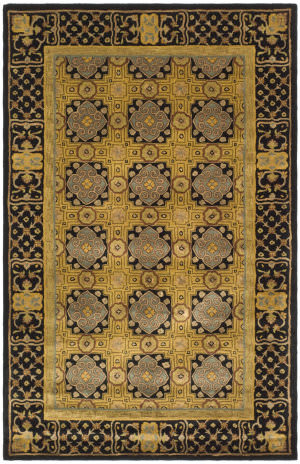 Safavieh Classic CL301A Gold / Black Area Rug