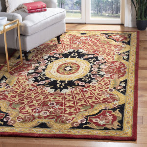 Safavieh Classic CL304B Burgundy - Black Area Rug