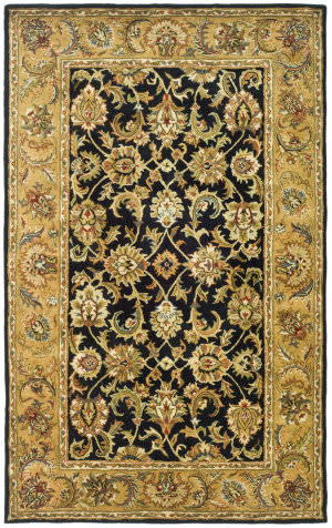 Safavieh Classic CL758B Black / Gold Area Rug