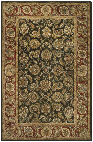 Safavieh Classic CL758P Dark Olive / Red Area Rug