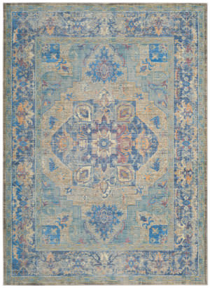 Safavieh Claremont Clr664c Blue - Gold Area Rug