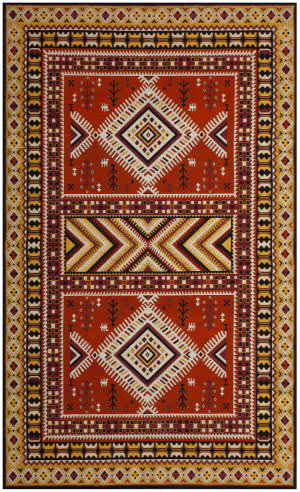 Safavieh Classic Vintage Clv511d Orange - Gold Area Rug