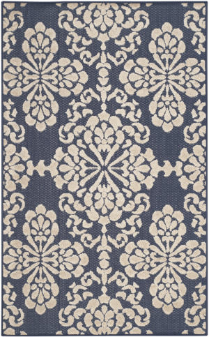 Safavieh Cottage Cot908a Navy - Creme Area Rug