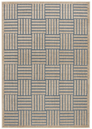 Safavieh Cottage Cot942f Light Blue - Beige Area Rug