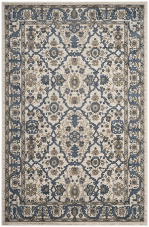 Safavieh Carolina Crl493c Cream - Dark Blue Area Rug