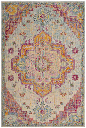 Safavieh Crystal Crs501b Light Blue - Fuchsia Area Rug