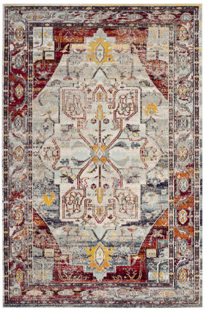 Safavieh Crystal Crs503c Light Blue - Red Area Rug