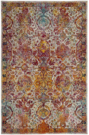 Safavieh Crystal Crs505a Light Blue - Orange Area Rug