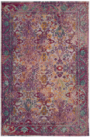 Safavieh Crystal Crs506b Light Blue - Fuchsia Area Rug