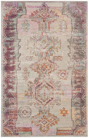 Safavieh Crystal Crs517p Light Grey - Purple Area Rug
