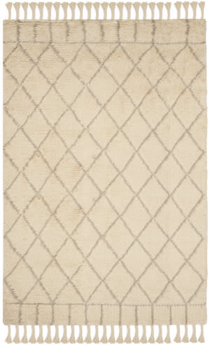 Safavieh Casablanca Shag Csb725b Ivory - Light Grey Area Rug