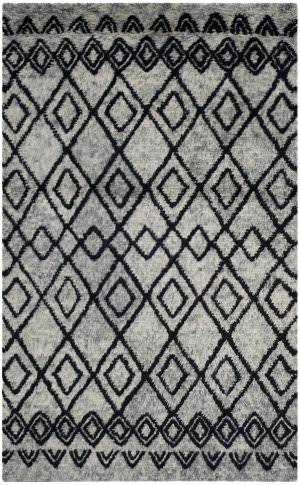 Safavieh Casablanca Shag Csb845k Grey - Charcoal Area Rug