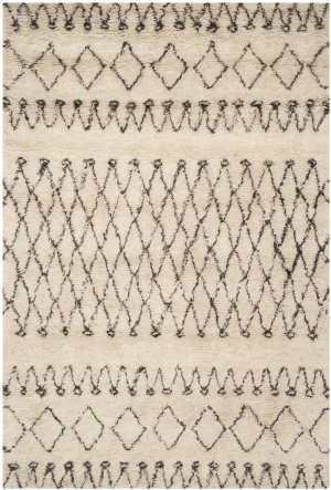 Safavieh Casablanca Csb851a White / Black Area Rug
