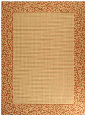 Safavieh Courtyard Cy0727-3201 Natural / Terracotta Area Rug