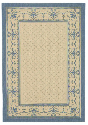 Safavieh Courtyard Cy0901-3101 Natural / Blue Area Rug