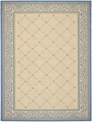 Safavieh Courtyard Cy1502-3101 Natural / Blue Area Rug